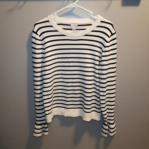 J.Crew black/white stripe sweater